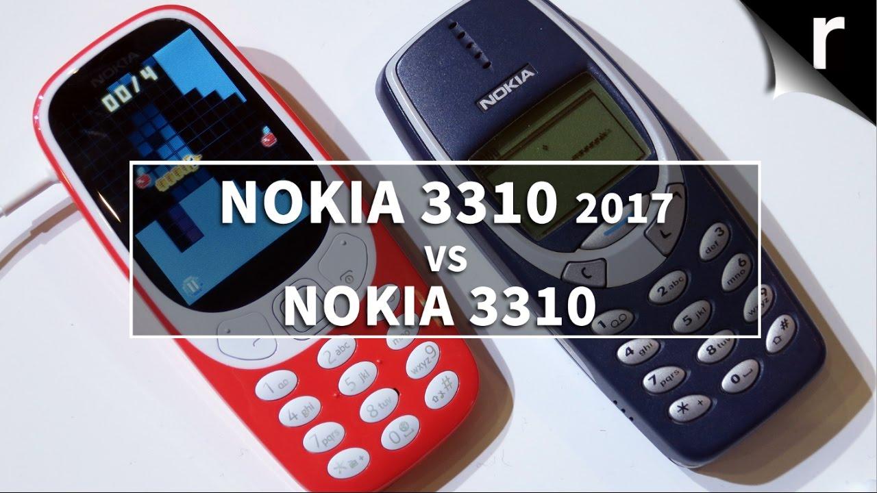 Nokia 3310 (2017) vs Nokia 3310 (2000): Blast from the ...