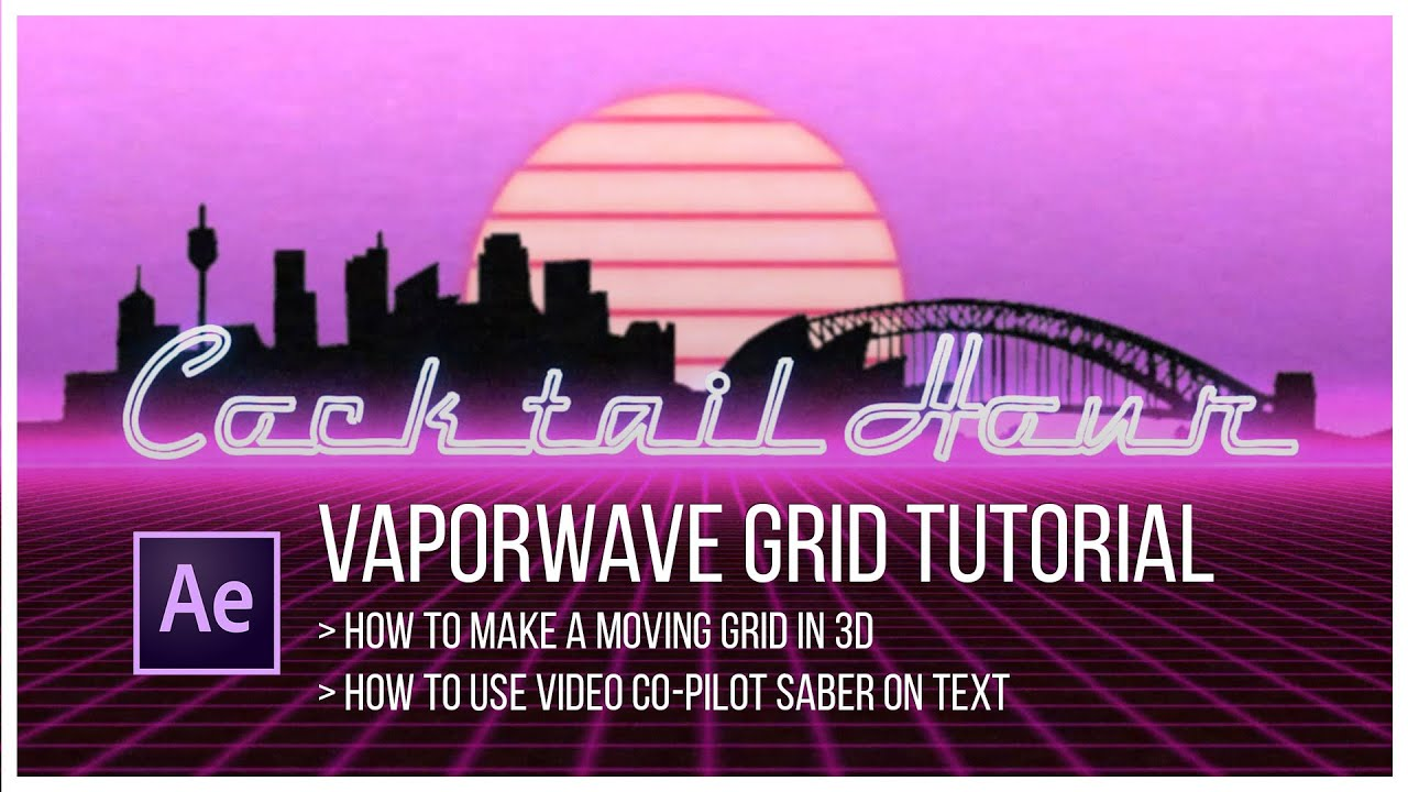 Vaporwave grid // After Effects Tutorial