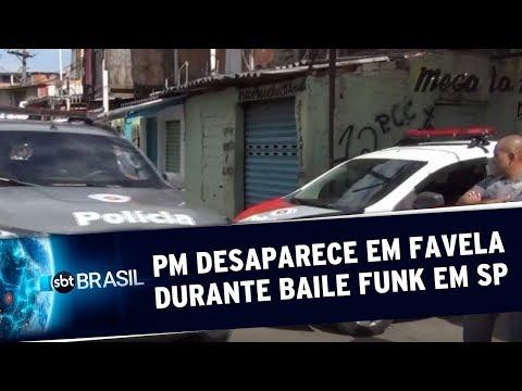 Soldado da PM desaparece um favela de SP durante baile funk  SBT Brasil 200719