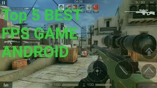 Top 5 best First Person Shooting online Games android  release on  (2017 )|| Game world zome hindi
