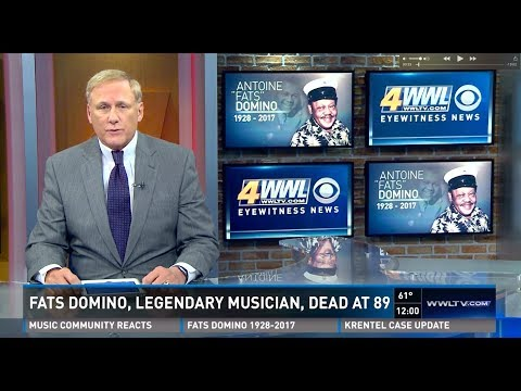 Fats Domino passing as announced on New Orleans TV
