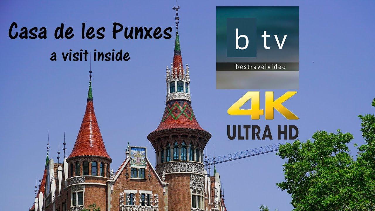 Visit barcelona spain casa de les punxes a walk inside the building museum in 4k youtube - Casa de las punxes ...