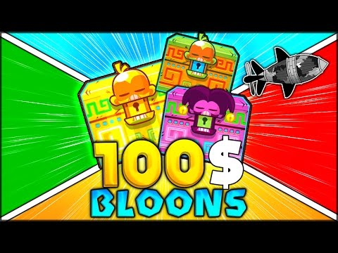 SPENDING 100$ FOR BLOONS VS BLACK CAMO MOAB (Bloons Tower Defense / TD Monkey City Knowledge Pack)