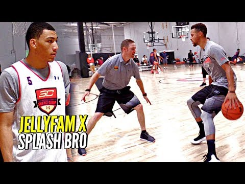 Thumbnail: Steph Curry x JellyFam Jahvon Quinerly Getting BETTER! Workout Drills & Scrimmage at #SC30Select