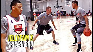 Steph Curry x JellyFam Jahvon Quinerly Getting BETTER! Workout Drills & Scrimmage at #SC30Select