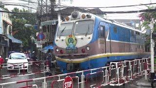 Train TN2 passing in Ho Chi Minh City Raining Day (2015)
