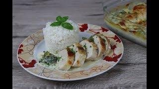 Куриные грудки с брокколи запеченные в сливочно   сырном соусе