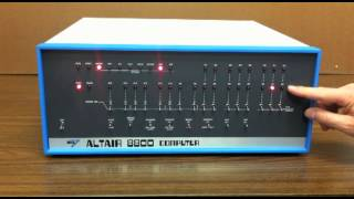 Altair 8800  - Video #2 - Front Panel Programming