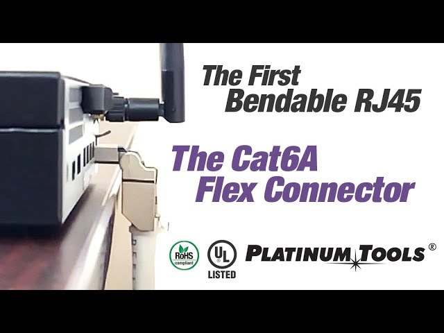 The First Bendable RJ45 Connector: Cat6A Flex Connector