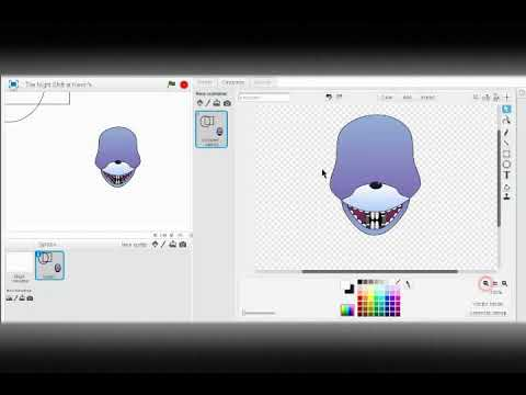 How To Make a FNaF Game On Scratch | #1 | Model, intro, and menu