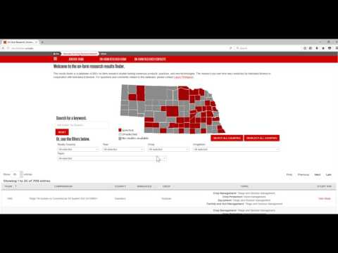 Nebraska On-Farm Research Results Finder