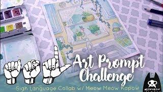 Sign Language Art Challenge // Collab with Meow Meow Kapow! (CC)