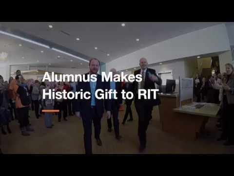 Alumnus Makes Historic Gift to RIT
