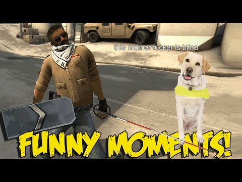 CS:GO FUNNY SILVER MOMENTS - THE MOST BLIND CSGO PLAYER EVER
