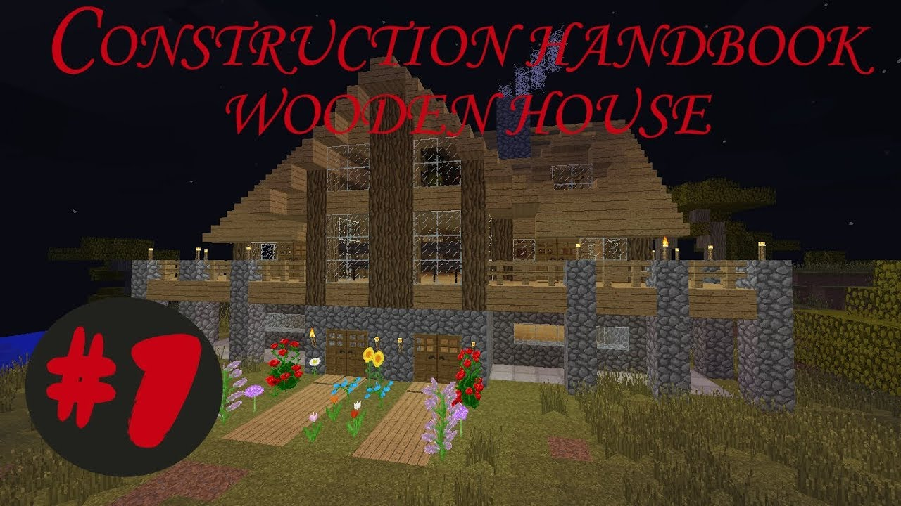 Minecraft Construction Booklet Building Wooden House Tutorial 1 Youtube