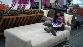 The Futon Shop - Peru Sofa Bed Demo