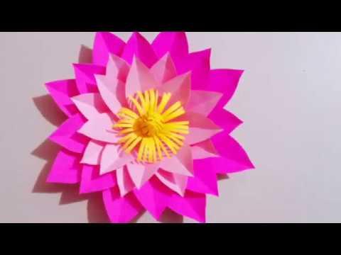 DIY  flower craft | How to make easy paper flower | paper flower craft