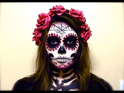 blood red catrina sugar skull tutorial youtube. Black Bedroom Furniture Sets. Home Design Ideas