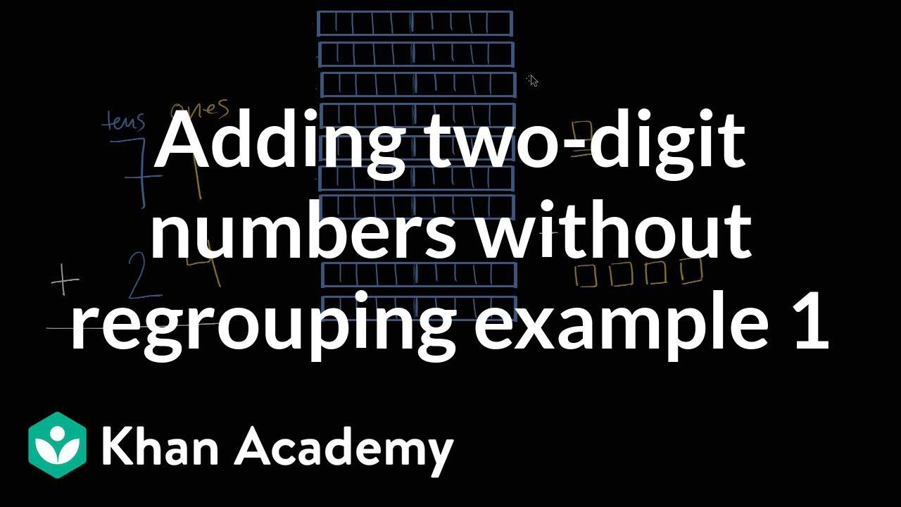 Adding 2-digit numbers without regrouping 1   Addition and subtraction   1st  grade   Khan Academy - YouTube [ 720 x 1280 Pixel ]