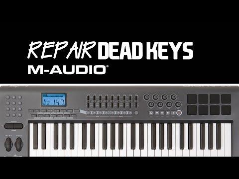 how to repair dead keys fixed m-audio axiom midi keyboard