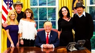 Trump Hangs Out With Kid Rock, Ted Nugent & Sarah Palin All Day Because That