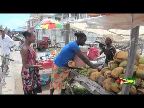 Coconut Woman-Guyana Style - Rose Hall Town, Berbice.