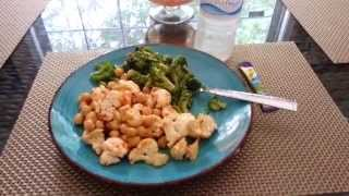 Vegetarian Meal| Chick Peas & Cauliflower Salad With Side Of Broccoli