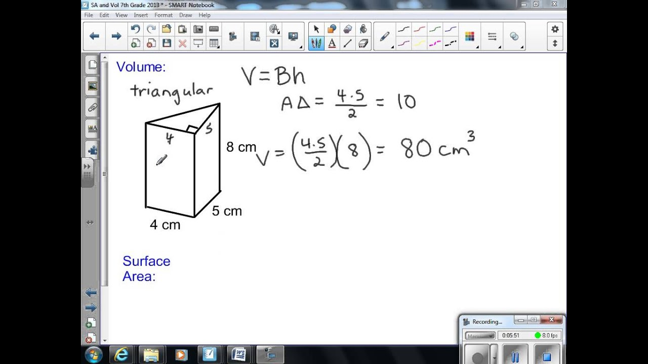 Surface Area and Volume 7th Grade Math 2013 - YouTube