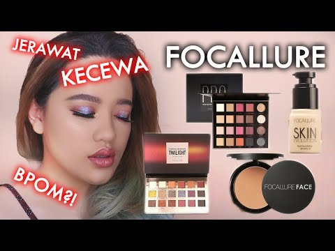 Review JUJUR : Focallure | Pro Palette, Twilight, Foundation, Brow Pencil