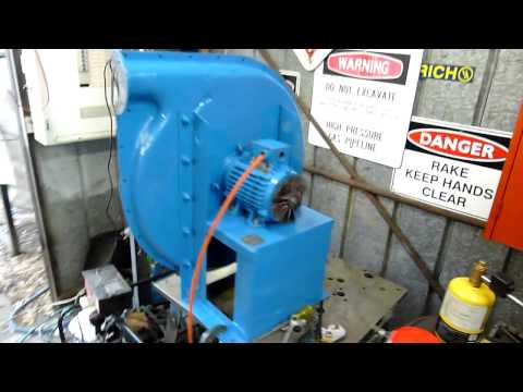 Industrial Centrifugal Blower Open Test Run