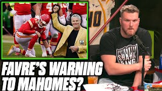 Pat McAfee Reacts To Patrick Mahomes Concussion Warning From Brett Favre