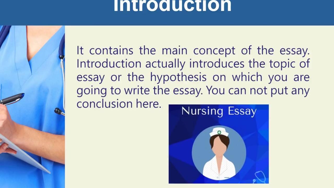 nursing essay introduction