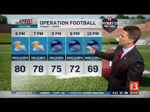 Sean Ash's Live Doppler 13 Forecast - 9/21/18