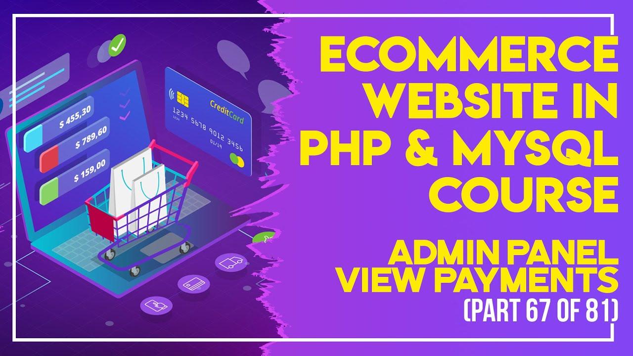 E-Commerce website in PHP & MySQL in Urdu/Hindi part 67 Admin Panel view orders