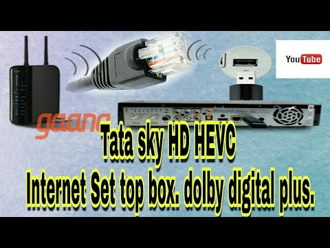 Tata sky HD HEVC Internet Set top box| dolby digital plus.| India's No.1 DTH service provider|