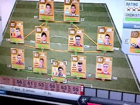 Fifa 13 ultimate team 3-5-2 hybrid (serie a/ bundesliga) youtube.