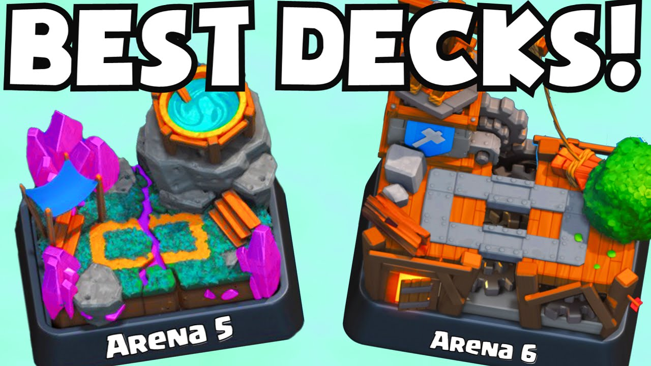 Clash royale best arena 5 6 decks spell valley builder 39 s for Best builders workshop deck