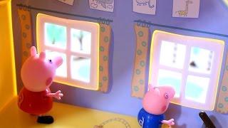 Свинка Пеппа. Мультфильм. Пеппа. Джордж и жабки.(Мультфильм про свинку Пеппу. Закончился дождь и Пеппа с Джорджем едут искать болшую лужу. Подходящая лужа..., 2015-06-30T04:00:00.000Z)