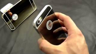 видео Чехол-книжка для iPhone 6, 6s, золотой
