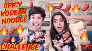 The Spicy Korean Noodle Challenge With Rickshawali! 🔥