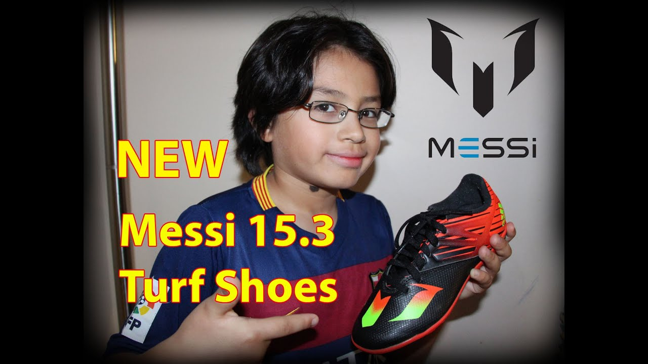 Unboxing And Field Shooting Test Of Adidas Messi 15.3 Turf Shoes.  Black/Solar Green/Solar Red   YouTube