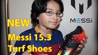 Unboxing and Field shooting test of Adidas Messi 15.3 Turf Shoes. Black/Solar Green/Solar Red