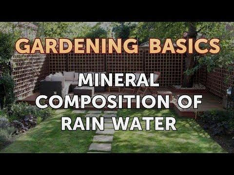 Mineral Composition Of Rain Water