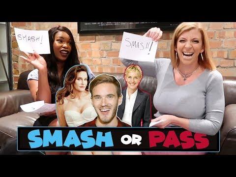 SMASH or PASS Challenge with Ellen Degeneres, Caitlyn Jenner, Pewdiepie