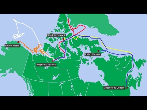 The CCGS Amundsen's 2014 journey around the Canadian Arctic