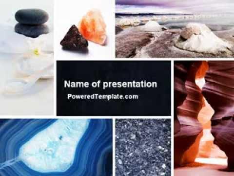 Minerals powerpoint template by poweredtemplate youtube toneelgroepblik Choice Image