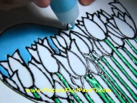 2 San Valentin Falso Vitral Corazon para Pintar 14 de febrero Manualidades Faciles Pintura Facil