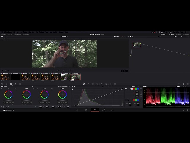 Davinci Resolve 15 Color grading Workflow - Grading SLog and flat footage