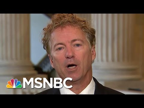 Senator Rand Paul: White House Could Make 'Big' Health Announcement | Morning Joe | MSNBC