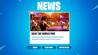 How To Get Save The World For FREE (RELEASE DATE) Fortnite STW RELEASE DATE! FREE REWARDS & SKINS